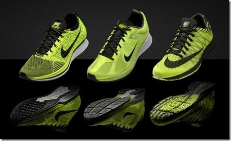 Nike Volt - Flyknit Racer, Zoom Streak 4, Lunarspider R3