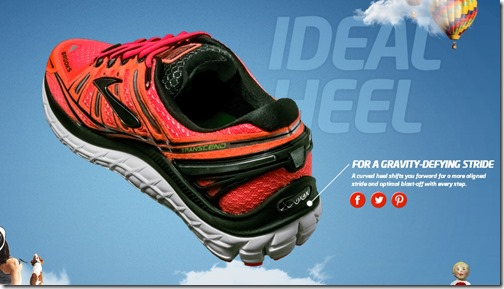 Brooks Transcend Heel