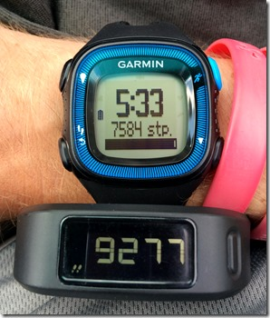Garmin Forerunner FR 15 and Vivofit