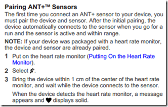 Garmin FR15 Heart Rate Pairing