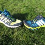 adidas Supernova Riot 6 on left and adidas Adistar Raven 3 on right