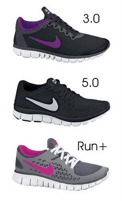 Nike Free Comparison