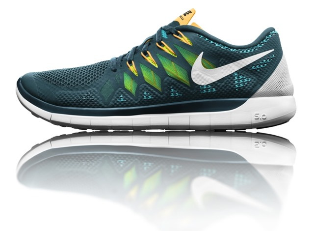 Cheap Nike Free OG Breathe Running Shoes Blue lime Rs 1,999
