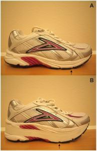 Unmodified Shoe (top) and Rocker-Sole Shoe (bottom). via Gait & Posture