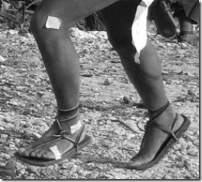 Foot Strike Patterns in Tarahumara Runners Wearing Huarache Sandals vs. Conventional Shoes