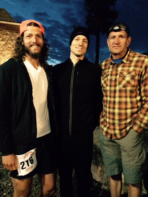 Awaiting the start with My brother (middle) and Dad (right) - Photo Sue Henry