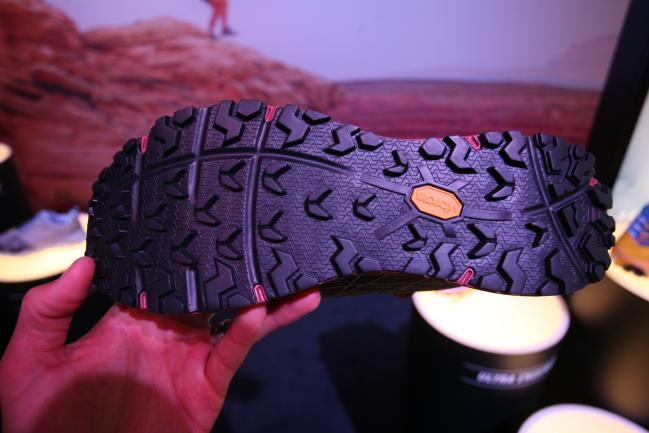 Great looking Vibram Megagrip outsole with a forefoot rock plate.