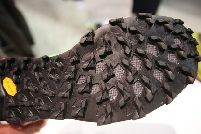Fantasic Vibram Megagrip outsole that should be pretty versatile and sticky.