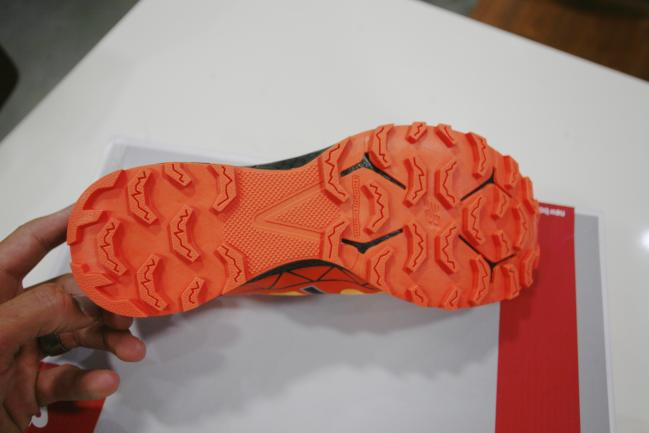 Nice overall outsole design for rough terrain; maybe a tad much for the type of platform it is on though.