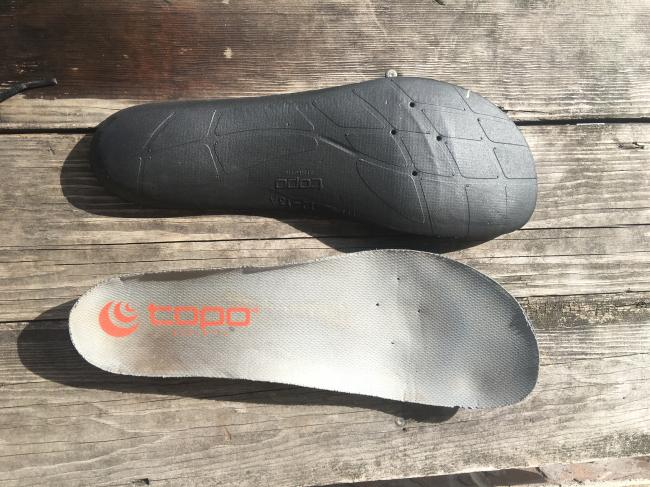 New, simplified and lighter footbed.