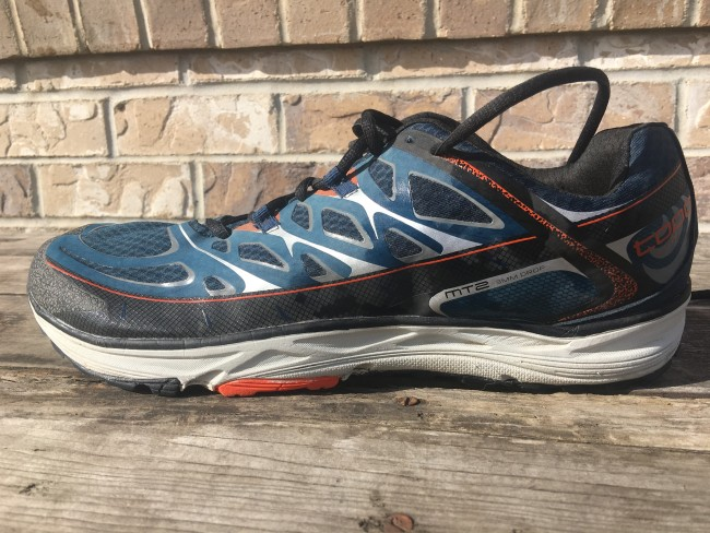 Great new midsole design that adds 3mm to forefoot stack height of original MT/Runventure design and offers a slightly softer and more responsive feel. Additionally midfoot is a bit narrower which leads to a better fit in the arch for me.