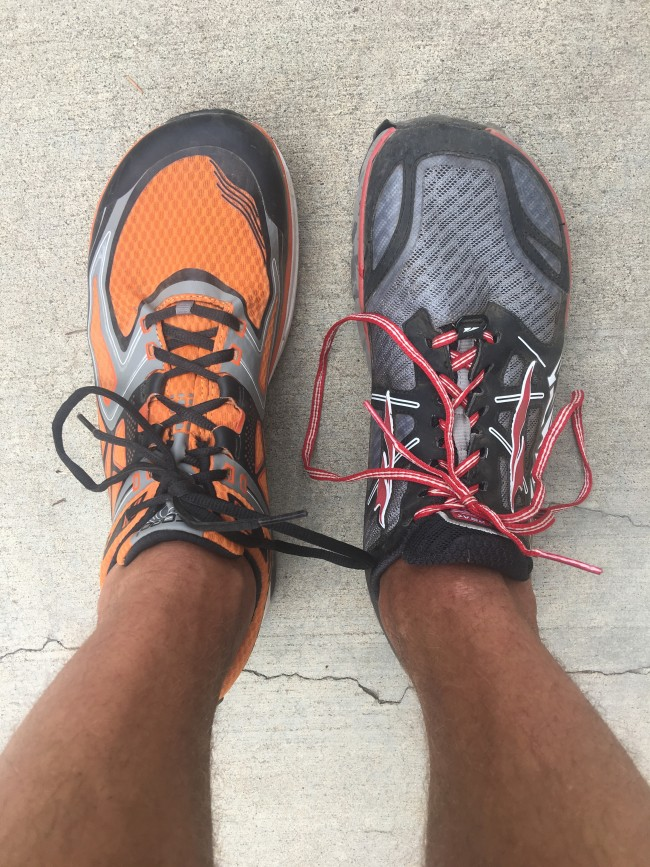 Too much volume in the midfoot on the Lone Peak 3.0 last. Shown in comparison is the Topo Athletic Ultrafly which has a very similar toebox but much more secure midfoot...you don't have to have a loose midfoot to have a wide toebox.