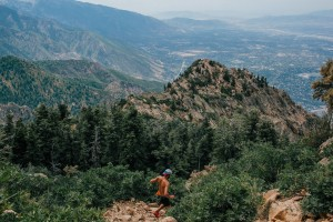 Descending near of the top of Mt. Olympus outside of Salt Lake City in August.